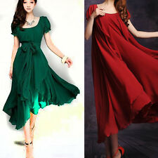 NEW Bridesmaid Lady Long Cocktail Evening Party Vintage Chiffon Lace Maxi Dress