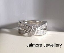 Engagement Eternity AAA CZ  Ring 100% Genuine 925 Sterling Silver Infinity Gift