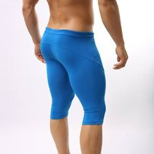 Men's SEXY SPORTS TIGHTS WORKOUT SWIMWEAR RUNNER JAMMER SHAPERS shorts boxers