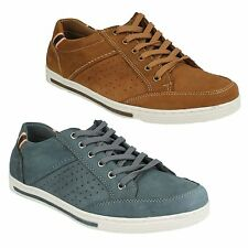 SALE MENS MAVERICK CASUAL LEATHER LACE UP TRAINERS STYLE SHOES A2112