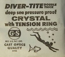 GS Diver-Tite Deep Sea Pressure Proof Crystals with Tension Ring 24.5 - 29.7 mm