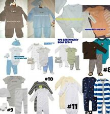 * NWT NEW BOYS 2pc - 3PC - 4pc CARTERS PUPPYS ZOO DUCKS WINTER OUTFIT SET Multi