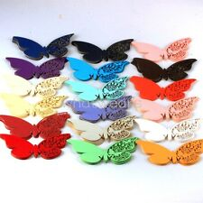 Wedding Party Butterfly Name Cards for Wineglass Decoration 10x A1014 LJN