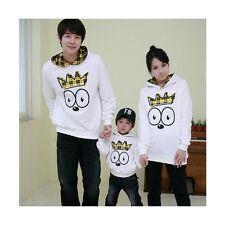 3Pcs Baby Boys Mom Dad Fall Cartoon Bird Printed Long Sleeve 100%Cotton Hoodies
