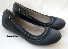 NEW CLARKS FLIPPY DUSK BLACK LEATHER SHOES PUMPS