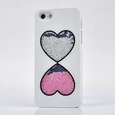 Luxury Bling Diamonds Crystal Rhinestone Heart Case Cover For iPhone5C 5CSX