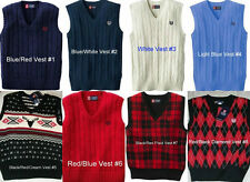 * NWT NEW BOYS Chaps Cable - Knit Sweater Vest 4 5 7 8 14 16 18 20