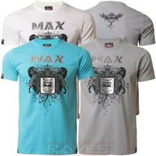 Mens Max Edition T-shirt Tee Top Lion Shield Print Short Sleeve Crew Neck