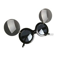 Round Lens Sunglasses Flip Up Mickey Mouse Shape Eyewear UV400 Kids Laides Mens