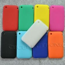 1x New Soft silicone case back Cover for iphone 3g 3gs plain