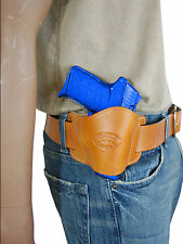 New Barsony Tan Leather Quick Slide Holster Kimber Ruger 380 Ultra Comp 9mm 40