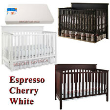 Graco Crib 4-in-1 Convertible with MATTRESS Nursery Crib Set NEW