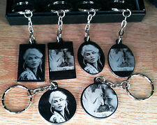 Personalised Photo/Text Engraved Stainless Steel Keyring Pendant  Birthday Gift
