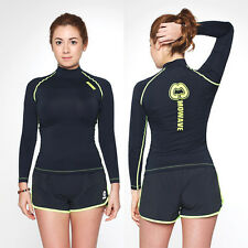Mowave women's shooting star rashguard surfing compression swim athleticwear
