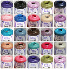 Aunt Lydias classic crochet thread size 10- select  color bellow #2