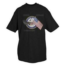 Black Military Branch Navy Virtues One Sided Imprinted T-Shirt - USN
