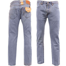 Mens Levi's 501 Jean Lightwash Blue Original Levis Straight Fit
