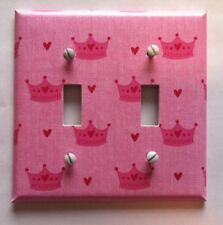 PINK PRINCESS OUTLET COVERS AND SWITCH PLATES - FREE SHIPPING -GIRL ROOM
