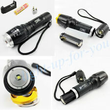 2000LM CREE LED XM-L T6 12W 5-Mode Torch Zoomable Adjustable Focus Flashlight UK