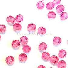 Rose (209) Swarovski Elements 5000 Crystal Round Beads 4mm 6mm 8mm