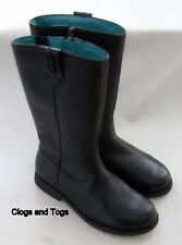 NEW CLARKS SHOWJUMPER GIRLS BLACK LEATHER BOOTS SIZE 10 G