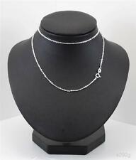 Sterling Silver Chain 18inch long 1.1mm diamond Cut Trace link