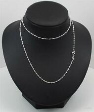 New Sterling Silver Chain 18inch long 1.0mm wide Singapore chain