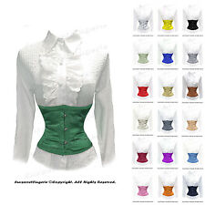 AU Stocks! Full Steel Boned Satin Underbust Waist Cincher Corset #9979(OT)