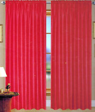 SOLID SHEER GROMMET FAUX  SILK WINDOW CURTAIN DRAPES PANEL , ROD POCKET , STRING