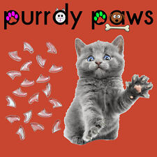 CLEAR Soft Nail Caps For Cat Claws * Purrdy Paws * Kitten Small Medium Large USA