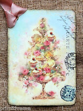 Hang Tags  FRENCH ANGEL CUPCAKE TREE TAGS or MAGNET #551  Gift Tags