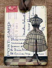Hang Tags  OLD DRESS FORM POSTCARD TAGS or MAGNET #652  Gift Tags
