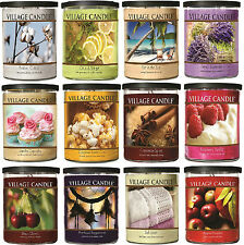 Village Candle - DOUBLE WICK MEDIUM DECOR PILLAR JAR 18oz - Choice Of Fragrances