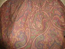 "RALPH LAUREN BRIANNA ELIZABETH RED PAISLEY TWIN BEDSKIRT GREEN HONEY 14"" COTTON"