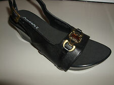 "Onesole Interchangeable Tops ""Black Topaz"" Slingback Top ONLY"