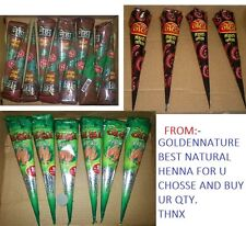 NATURAL HENNA CHOICE & BUY * henna cone & tubes multi color temporary tattoo pas