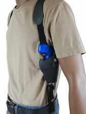 "NEW Barsony Black Leather Vertical Gun Shoulder Holster for S&W 2"" Snub Nose Rev"