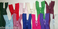 """16"""" long Closed End Nylon Autolock Zips (No.3) Choice of Colour & Number of Zips"""