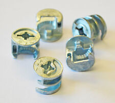 15mm x 12mm KNOCK DOWN CAM LOCK - FLAT PACK FURNITURE FITTING, DOWEL ASSEMBLY