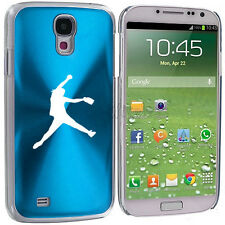 For Samsung Galaxy S3 S4 S5 Light Blue Hard Case Cover Female Softball Pitcher