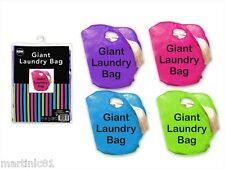 GIANT BRIGHT LAUNDRY WASHING CLOTHES STORAGE BAG BASKET BIN ROOM TIDY SACK POLYE