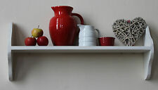 wooden painted pine shelf shabby chic and natural finishes