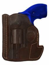 """New Barsony Brown Leather Pocket Holster Charter Arms, Colt 2"""" Snub Nose 38 357"""