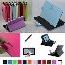 "Colorful Magic Leather Case+Film+Stylus For 7"" Hipstreet Aurora 2/NOVA 4 Tablet"