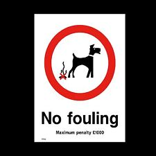 No Fouling Sign, Sticker - All Sizes & Materials - Dog, Park, Grass (PPA8)
