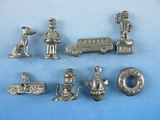 Simpsons Monopoly Spare Replacement Pewter Playing Pieces Tokens