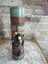 A TRIPLE LAYER VARIEGATED PILLAR CANDLE-HIGHLY SCENTED-U PICK COLORS & FRAGRANCE