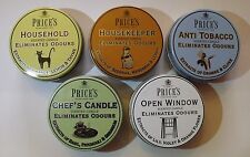 Prices Candle in Tin - Eliminates Odours, Fragranced, Wax - FREE DELIVERY