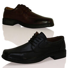 NEW MENS BOYS LACE UP SMART CASUAL FORMAL OFFICE WORK DAY PARTY DRESS SHOES SIZE