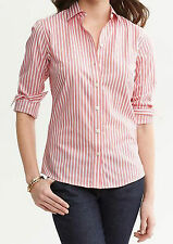NWT Banana Republic New $59.50 Women Non-iron Multi-stripe Shirt 0, 2, 6, 8